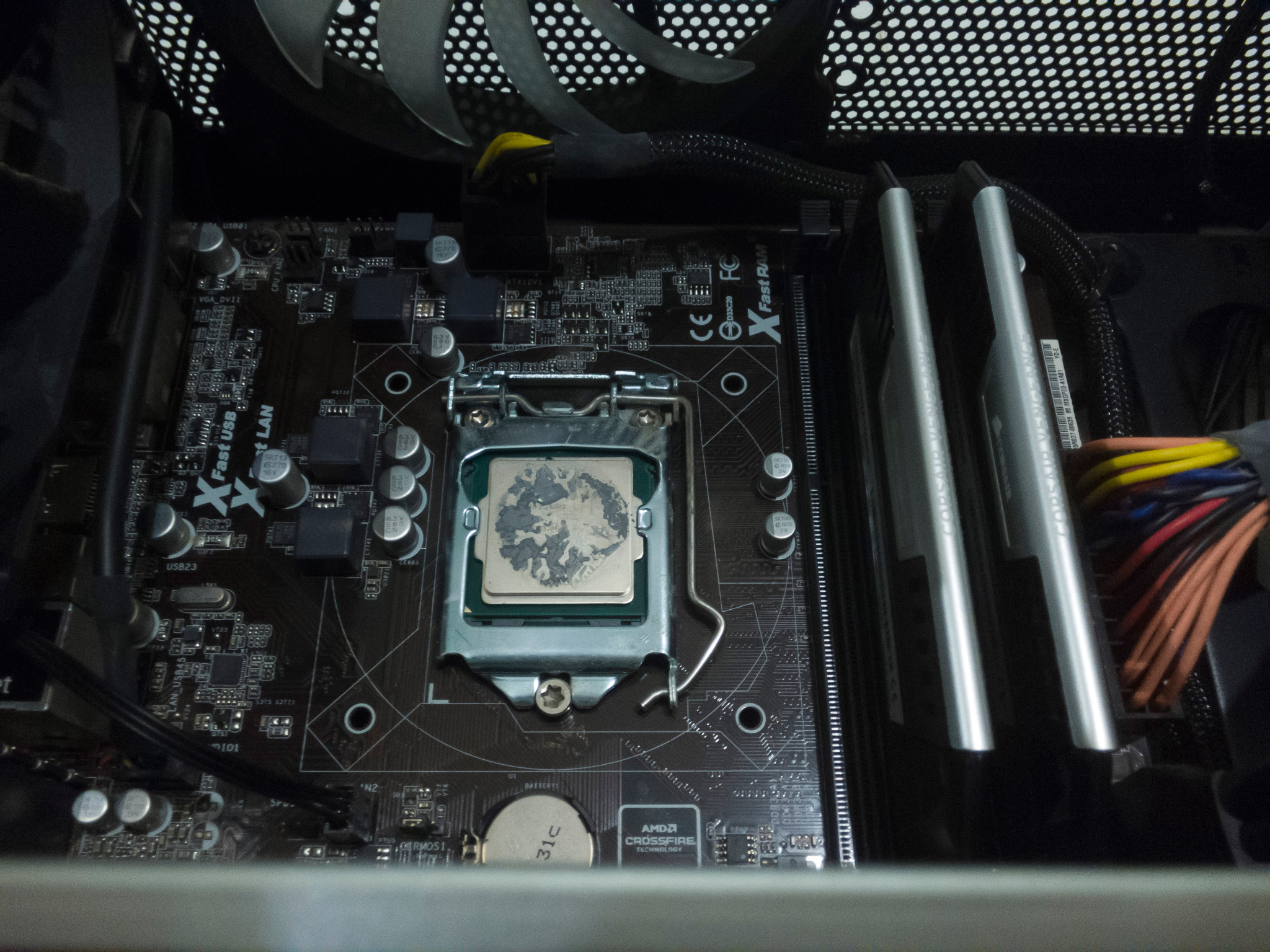 Replacing the thermal compound from a boxed Intel CPU fan • blog