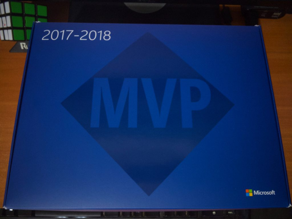 The top of the box, with the MVP logo and the years 2017-2018
