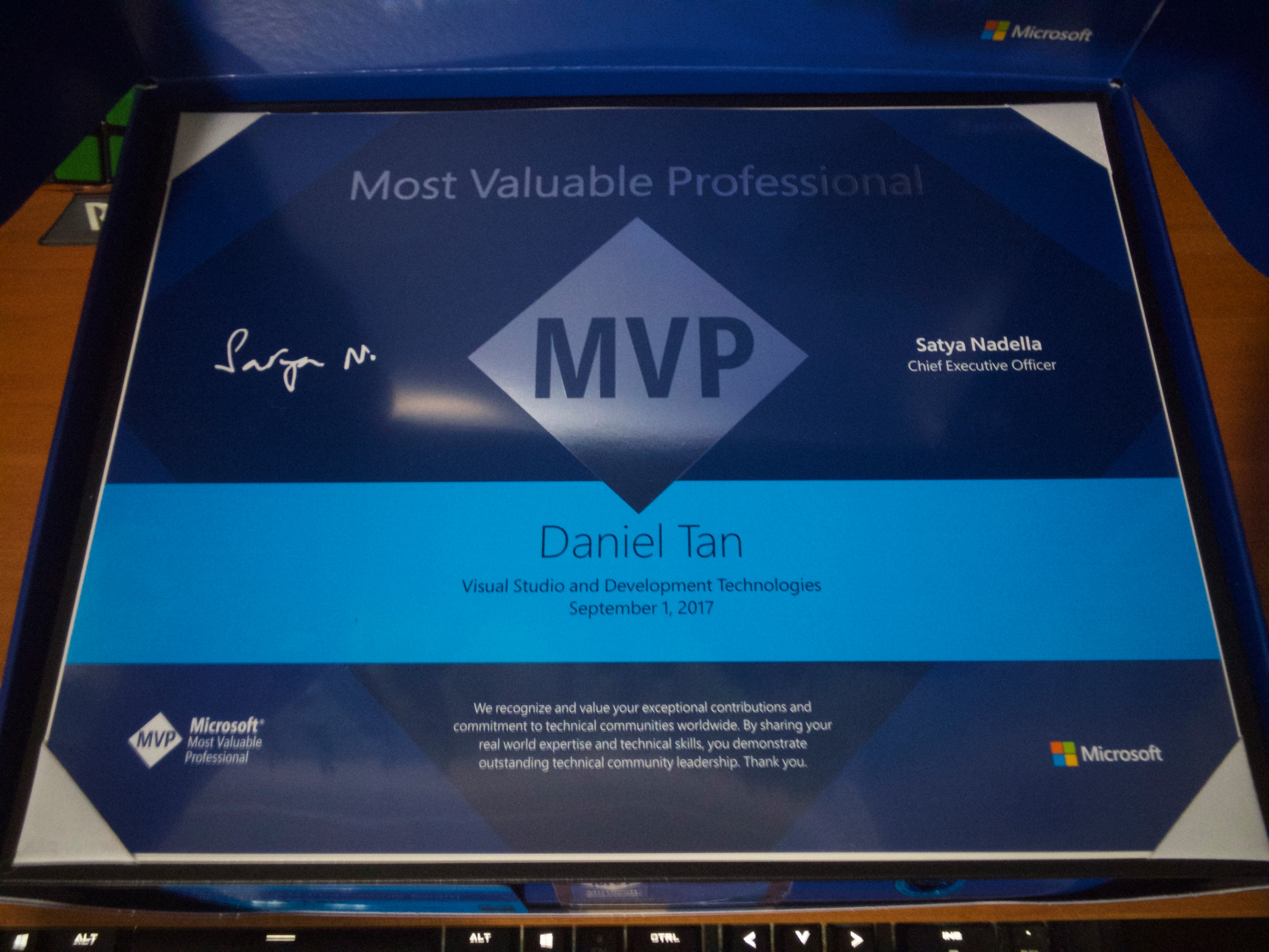 my microsoft mvp award gift package is here   u2022 blog novalistic