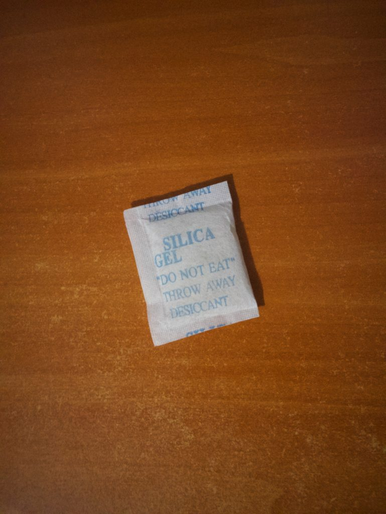 Silica gel. Do not eat.